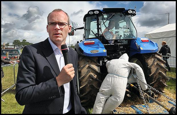 Agriculture, Food and Marine Minister Simon Coveney speaking at the Tullamore Show revealed €8m exports loss.