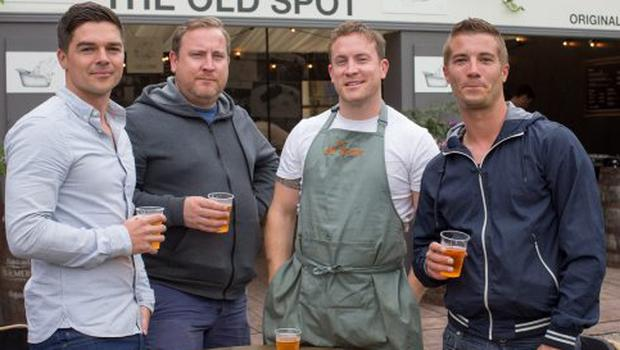 From Left: Brian O'Malley, brothers Paulie & Barry McNerney and Stephen Cooney, co-owners of The Old Spot