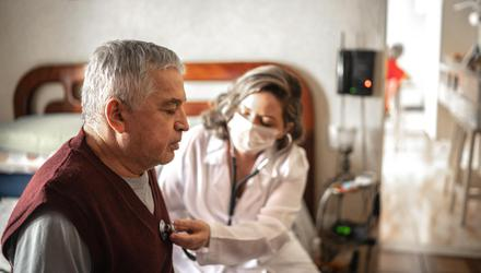 Many nursing home residents are being cared for but have been allowed little contact with their families. Photo: Getty.