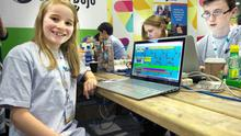Lauren Boyle of the Cool Kids Studio at the Coder Dojo stand at the Web Summit in the RDS Ballsbridge last Wednesday.
