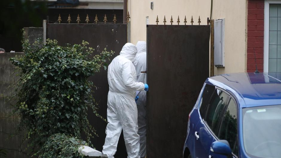 The house at Ashfield Park estate remained sealed off this morning to allow a team of Garda forensic specialists carry out a technical examination. Photo: Colin Keegan, Collins Dublin