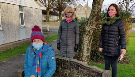Owenacurra resident Anna Hurley (left) along with Mary Hurley (centre) and Orla Kelleher (right)