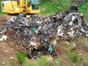 Initial excavations at the site outside Ballygawley uncovered this pile of rubbish