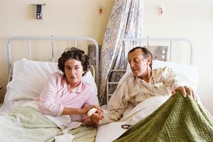 Patricia and John Knatchbull in hospital after the explosion