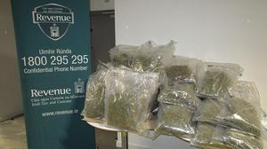 The 40 kilos of cannabis were discovered in a spare tyre of the lorry's trailer. Photo: Revenue.