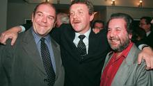 Friends indeed: Much-loved food writer, Paolo Tullio, right, who passed away on Friday after a long illness with life-long friends Paul McGuinness, left, and Michael Colgan
