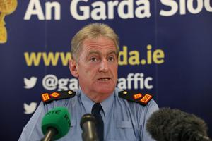 Superintendent Brendan Connolly at a press conference in Clondalkin Garda Station where they named the abandoned baby as Maria
