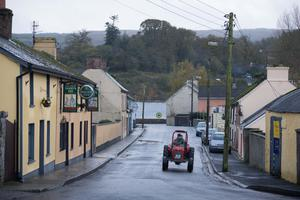 DESERTED VILLAGE: The quiet streets of Broadford, Co Clare last Friday afternoon. Photo: Eamon Ward