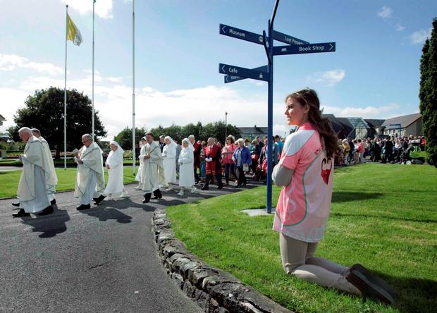 Mass attendance may be dropping, but novenas, pattern days and pilgrimages continue to be hugely popular, with Knock attracting over a million visitors every year. Picture Credit: RollingNews.ie