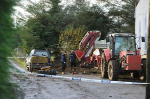 Tractor blow-out in Donegal