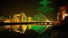 A new online film featuring a swarm of 500 drones animating the skies of Dublin in a spectacular light show has been unveiled, to wish the world a Happy St Patrick's Day. The film – called 'Orchestra of Light' – was created by St Patrick's Festival, Tourism Ireland and Dublin City Council earlier this month. (Pic: Allen Kiely)