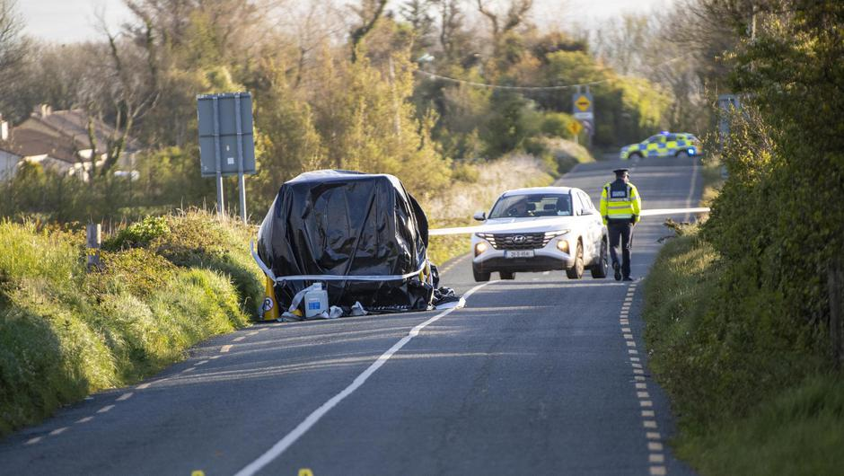 Gardai at the scene of the accident