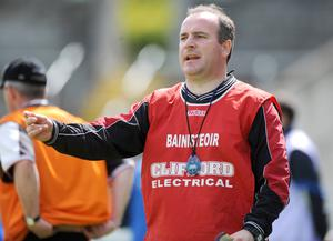 Gda Sgt Michael Galvin in his role as Sligo manager in 2009