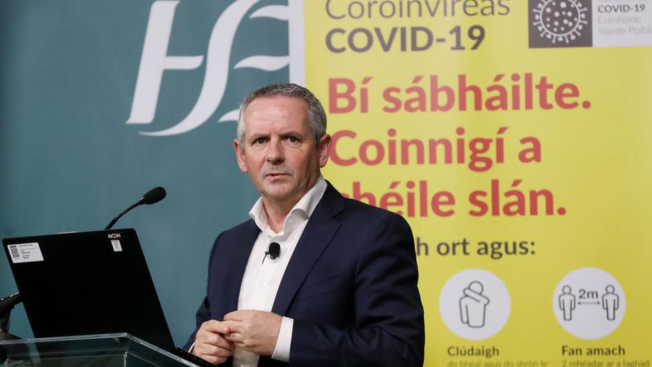 Twenty-two percent of people eligible for a vaccine have received their first dose, HSE Chief Paul Reid said.