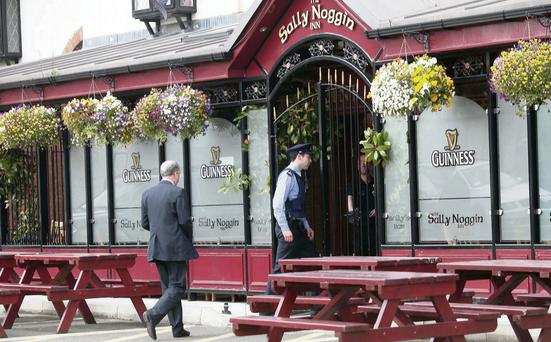 The Sally Noggin Inn in south Dublin yesterday
