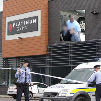 The shooting scene at Platinum Gym, Ballbriggan, Co dublin Credit: Mark Condren