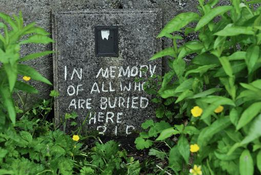 A plaque at the Baby gravesite at Tuam Mother and Baby home