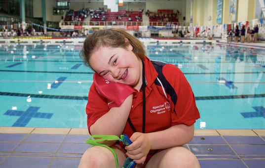 Munster team swimmer Antoinette O'Leary, 13, from Gneeveguilla, Co. Kerry. Picture: Alan Place/Fusionshooters.