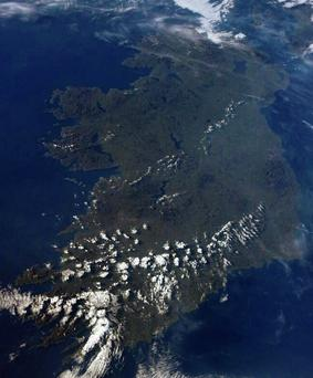 The image of an almost cloud-free Ireland tweeted by International Space Station astronaut Reid Wiseman