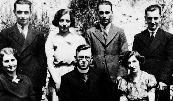 Father Ambrose O'Gorman with his family at their home in Ballyshannon on the day he said his first Mass, May 25, 1940. Photo: James Connolly/PicSell8