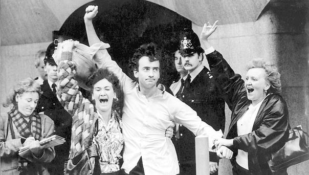 Gerry Conlon following his release in 1989.Photo: Alan Lewis - PhotopressBelfast