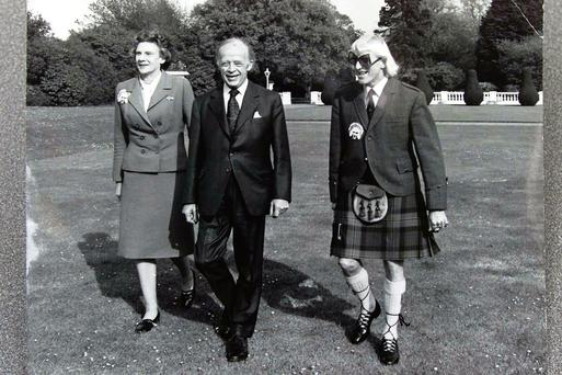 Central Remedial Clinic founder Lady Valerie Goulding with then President Erskine Childers and Jimmy Savile. Savile also befriended Charles Haughey.