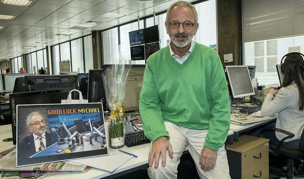 Newsreader Michael Murphy's on his last day in the RTE newsroom