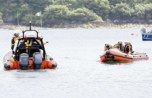 The scene of the incident near Castlehaven, Co Cork, where two divers died. Photo: Emma Jervis