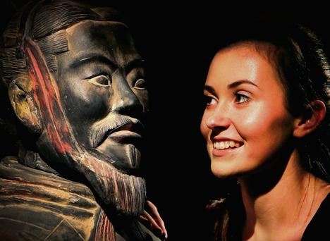 Ciara Nealon from Leopardstown at the Terracotta Army exhibit