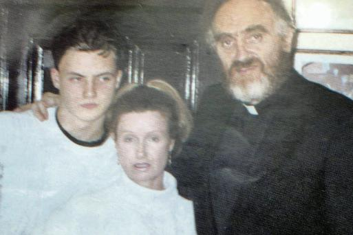 Fr Michael Cleary, Phyllis and Ross Hamilton