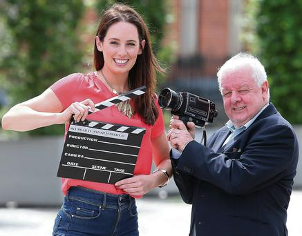 Director, Jim Sheridan and actress, Aoibheann McCaul,at the launch of the Sky Road TV and Film Festival. Photo: Damien Eagers
