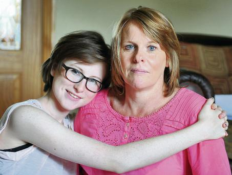 Chloe Boyle with her mum, Tricia