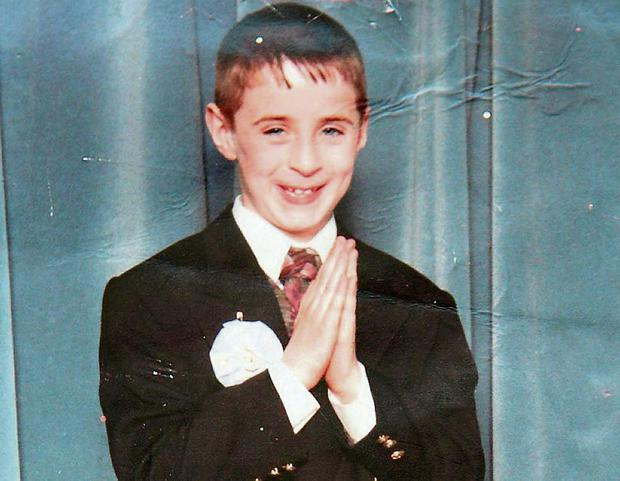 Eight-year-old Danny Talbot's First Holy Communion photograph