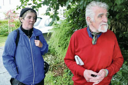 Thomas McKenna right, the father of murder victim Tyrone McKenna, with Tyrone's sister Revenna. Photo: Collins