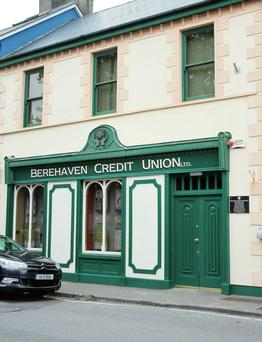 The offices of Berehaven Credit Union, Main Street, Castletownbere, West Cork.