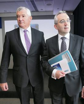 Richie Boucher, Group Chief Exec Bank of Ireland and Andrew Keating Group Chief Financial Officer