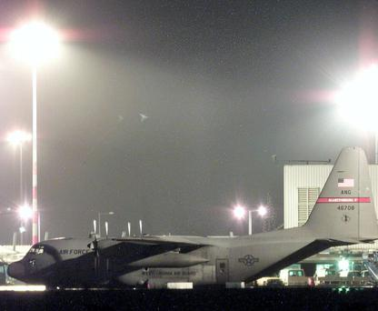 US Hercules aircraft at Shannon