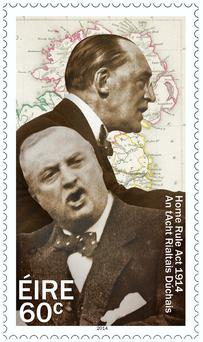 The stamp of features John Redmond and Edward Carson