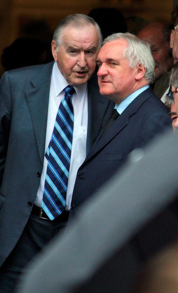 Bertie Ahern and Albert Reynolds