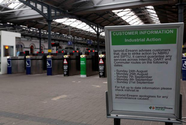 An empty Heuston Station in Dublin, during the Irish Rail strike.