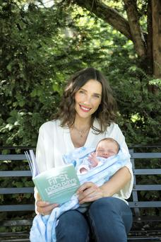 New mother Michelle Doherty, with help from her baby Max, launched First 1,000 Days Awareness Week yesterday. Photo: Naoise Culhane
