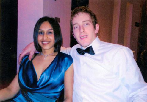 A file photo of Michael Kivlehan and his wife Dhara Kivlehan, who died a week after her baby son was born in Sligo General Hospital in 2010.