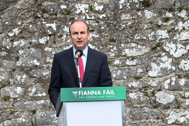 Micheal Martin at the annual Fianna Fáil Wolfe Tone Commemoration yesterday in Bodenstown, Co Kildare. Photo: Fergal Phillips.