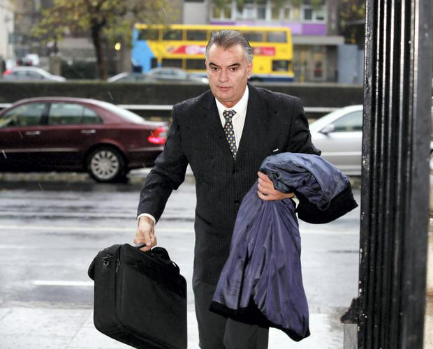 Ian Bailey arrives at the Four Courts