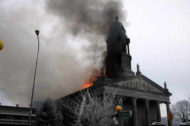 St Mel's Cathedral in Longford burns to the ground on Christmas Day