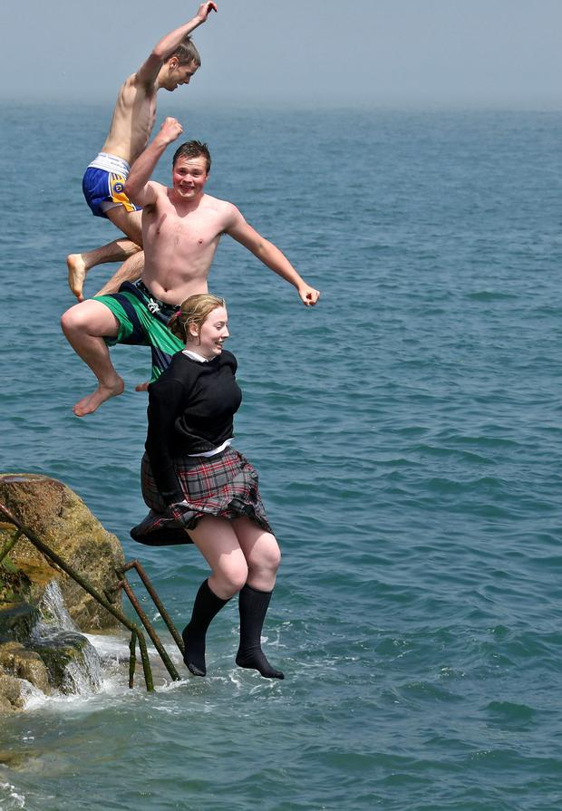 Lifeguards are to be required on Dublin beaches as swimmers enjoy themselves in Sandycove