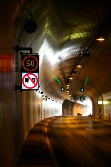Seventy percent of motorists were found to be speeding in one section of the Dublin Port Tunnel
