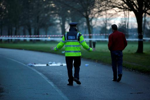 Gardai investigate an incident on the North Road in Phoenix Park, where a toddler was seriously injured after being struck by a car
