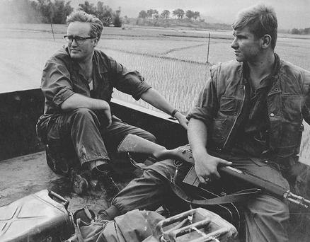 Richard West (left) on assignment in Vietnam in the 1970s