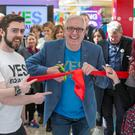 Rory Cowan of 'Mrs Brown's Boys' opens the pop-up Yes Equality Shop at St Stephen's Green Shopping Centre in Dublin